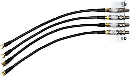 SKT QEW004SET Überspannungsschutz-Winkel-Set für 4-Fach Multischalter (4X 35 cm Patchkabel)