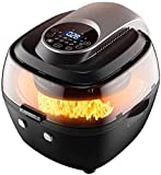 🌌【HEALTHIER LIFESTYLE】 Quickly Circulates hot air instead of oil, 85% less calories than normal fryers, and cooks foods that are crispy on the outside and tender and moist on the inside. Air Fryer is suitable for searing, frying, warming up and dehyd...