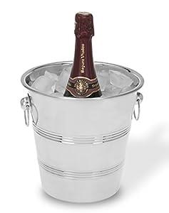Viscio 171429 Trading - Cubitera para champán (acero inoxidable, 22 cm)