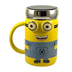 Minion 3D cup with chrome plated cap
