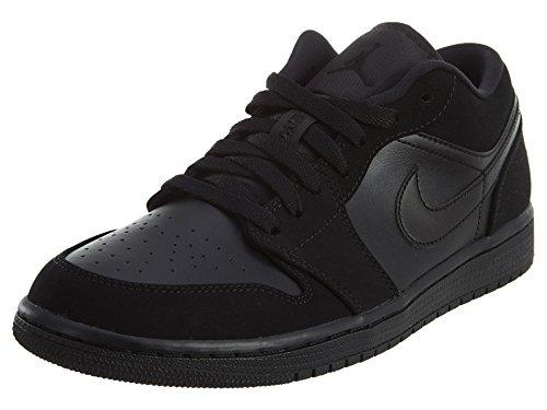 Nike Herren Air Jordan 1 Low Basketballschuhe, Schwarz (Black/Black/Black 025), 44 1/2 EU