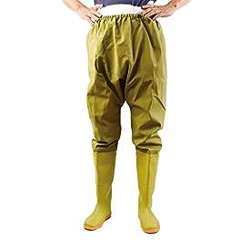 QTDZ Pantalons D'extérieur Polyvalents Hommes Angel Waders, Cuissardes Légères 110 Cm avec Bottes en Caoutchouc…