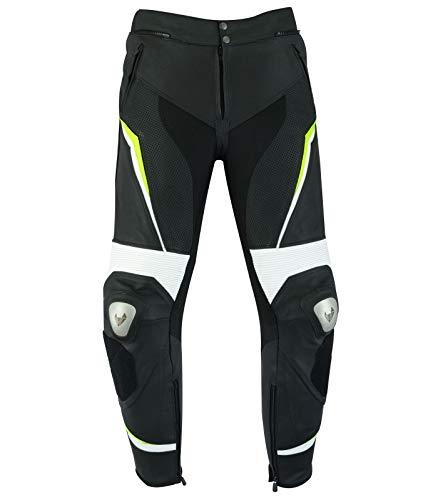 LOVO Pantalones de cuero para moto (Unisex) (XL)
