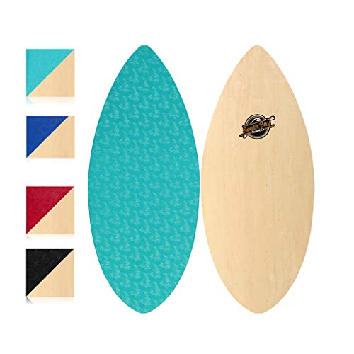 South Bay Board Co. Performance Wooden Skim Board-41 Skimboard (The Skipper) with Textured Wax-Free...