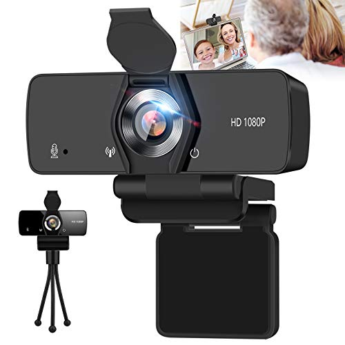 SFABF Webcam with Microphone,1080P Web Camera USB Webcam for Desktop & Computer,HD Web Cam Video Camera with Privacy Cover & Tripod,Laptop Desktop PC Camera for Streaming Video Conference Recording