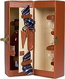 Bottiglia di vino 36,8cm similpelle & supporto per One con accessori by Trademark Innovations