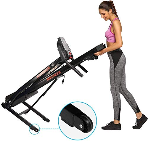ANCHEER Treadmill, APP Control Electric Folding Treadmills (Black) (Black)