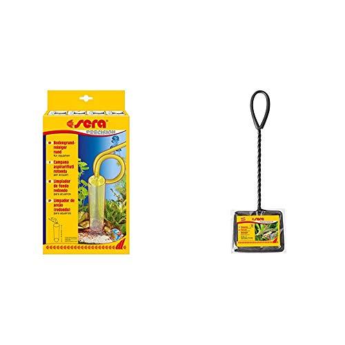 sera 08560 Bodengrundreiniger (rund) - Mulmabsauger oder Mulmglocke & Fangnetz fein, 12 cm