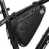 HOMPER - Bolsa triangular para tubo superior de bicicleta, bolsa para bicicleta de montaña, 1,5 l, bolsa de tubo de bicicleta de liberación rápida, logotipo reflectante para bicicleta de montaña