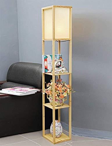 YUQIYU De pie luminarias verticales de madera de la cabecera de pie luminarias for sala de estar dormitorio Estudio creativo Incluye bombilla