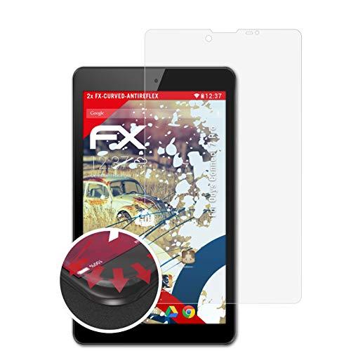 atFolix Schutzfolie kompatibel mit Odys Connect 7 Pro Folie, entspiegelnde & Flexible FX Bildschirmschutzfolie (2X)
