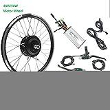 LiRongPing Bicicleta eléctrica Kit de conversión 250W48V sin escobillas para la Rueda Delantera del Motor E-Bici Kit con KT LCD6,24inch LCD Sets