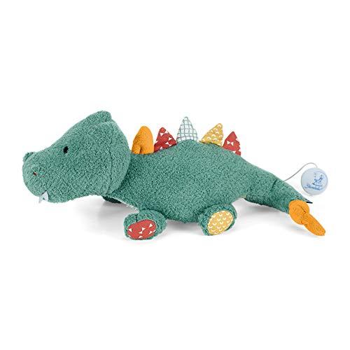 Sterntaler 6011952 Baby Spieluhr M Kuschelzoo Krokodil Konrad - aus über 100 Melodien ein Spielwerk wählen (* Melodie Brahms Wiegenlied (Guten Abend gute Nacht))