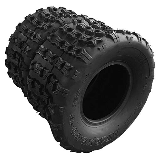 AutoForever 18x9.5-8 ATV UTV Tires Rear Left and Right Tubeless Sport Tires 4 Ply P316 18-9.5 8 18/9.5/8 Load Range B Cross Country Tires Set of 2
