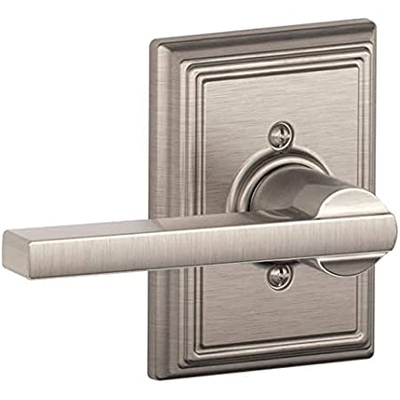 Schlage F170lat619add Latitude One Sided Dummy Door Lever With Decorative Addison Trim