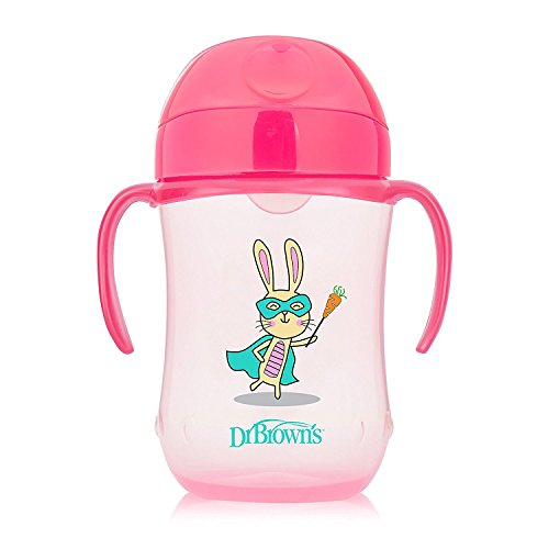Dr Brown's Natural Flow Soft Spout Toddler Cup, 270 ml, Pink