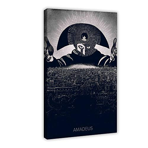 Amadeus Poster sur toile rétro pour chambre à coucher, décoration de bureau, 30 × 45 cm Cadre Style 1