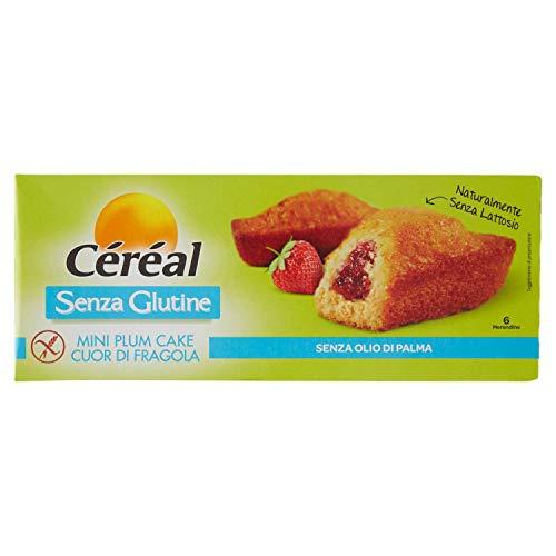 Céréal Plum Cake Cuor Fragola senza Glutine, 210g