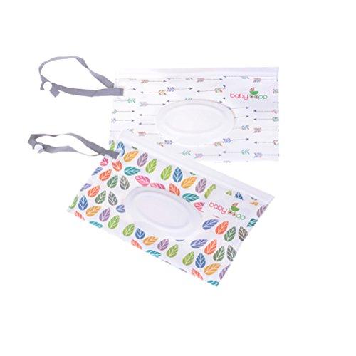 Fadacai Feuchttücher-Tasche für Babys, wiederverwendbar, nachfüllbar, 2 Stück