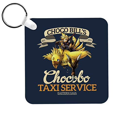 Cloud City 7 Chocobo Taxi Service Final Fantasy VII Keyring
