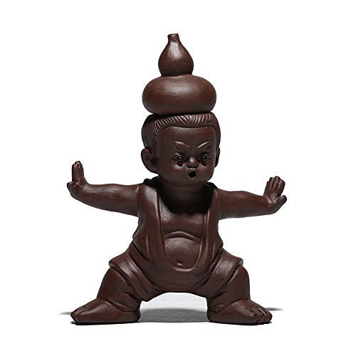 XueQing Pan Tea pet - Muñeca de calabaza hecha a mano rosso