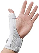LUCKYBUNNY Wrist Support Brace with Thumb Spica Splint, Adjustable Thumb Wrist Stabilizer for Tendonitis, Carpal Tunnel Pain, Arthritis and Sprains - Fits Both Hands (Grey)