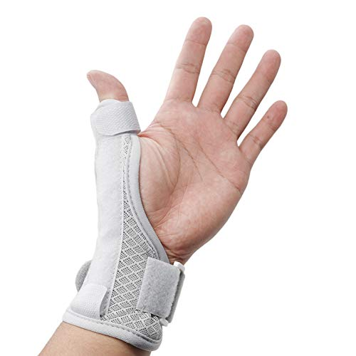 LUCKYBUNNY Wrist Support Brace with Thumb Spica Splint, Adjustable Thumb Wrist Stabilizer for Tendonitis, Carpal Tunnel Pain, Arthritis and Sprains - Fits Both Hands