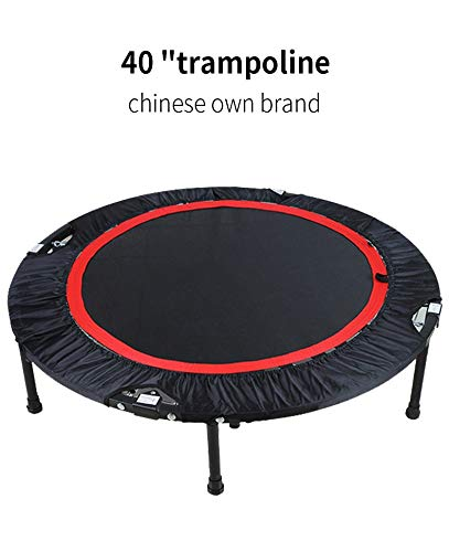 GAOJIN Foldable Fitness,trampette Trampoline Trampolines With Handle Bar Fitness Trampoline Bungee Jumping Cardio Trainer Workout For Adults Or Kids Indoor Trampoline With Stability