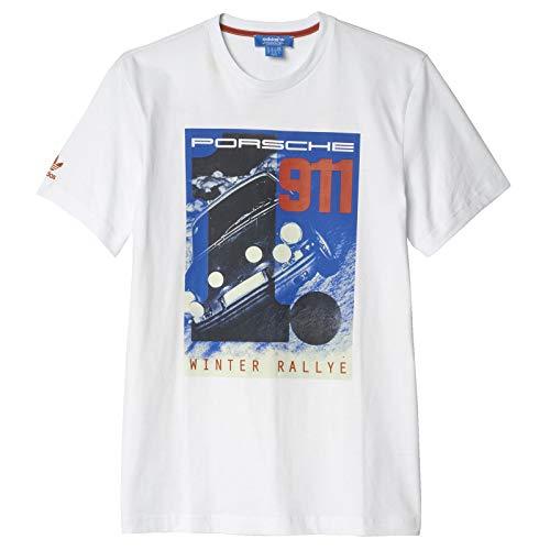 adidas Originals Porsche Design AZ0897 - Camiseta para hombre, diseño de Elfer Winter Rallye, Blanco, small