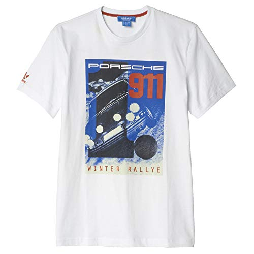 adidas Originals Porsche Design 911 Elfer Winter Rallye AZ0897 - Camiseta para hombre, color blanco