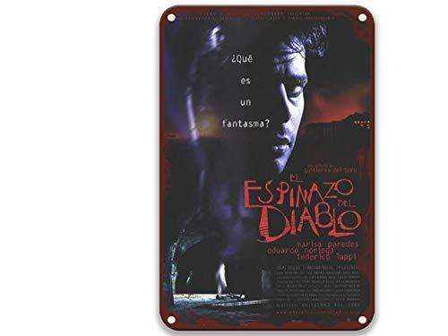 Ssfasf The Devil's Backbone Marisa Paredes Federico Luppi Eduardo Noriega, poster vintage in metallo con film in metallo, per decorazioni da parete, feste, cucina, bagno, 20 x 30 cm