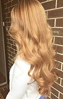 Moresoo 22 Inch Seamless Skin Weft Hair Extensions Caramel Blonde Color #27 Real Hair Glue in Extensions Tape in Weft Hair Soft Human Hair Extensions 50G/20Pcs