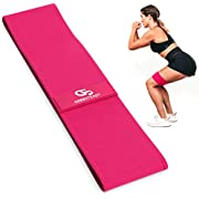 """Coresteady Glute Activator - Professional Hip Band - Resistance Band for Bum & Leg Exercises - Non-Slip - For Men & Women - E-Guide Included (#1 MAGENTA, 13"""" / 33cm)"""