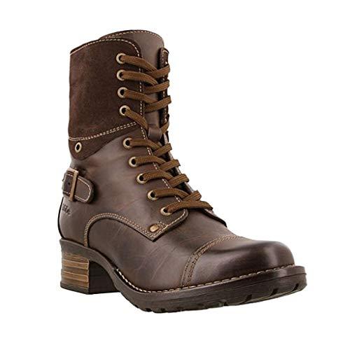 Meilily Schuhe, Damen Stiefel, Damenmode Casual Square Heels Kurze Stiefeletten Slip...