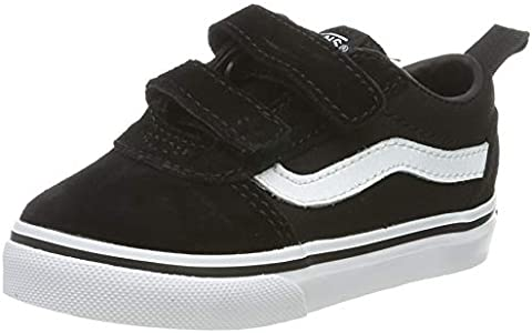 Vans Ward V-Velcro Suede, Zapatillas Unisex niños, Black/White Iju, 23.5 EU