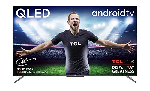 TCL 50C715K 50 Inch QLED Television, 4K Ultra HD HDR 10+ Dolby Vision, Smart Android TV with...