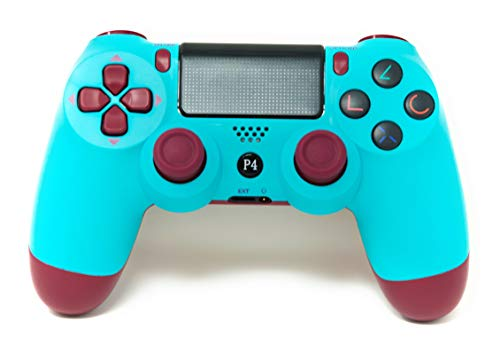PS4 Controller V2 CHASDI Wireless Bluetooth with USB Cable Compatible with Sony Playstation 4, Windows PC and Android Os (Ruby Red)