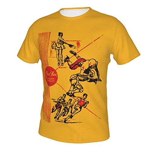 Vintage Pee Chee Shirt Unisex Unique Double-Sided Print Design Handsome Short Sleeve T-Shirt