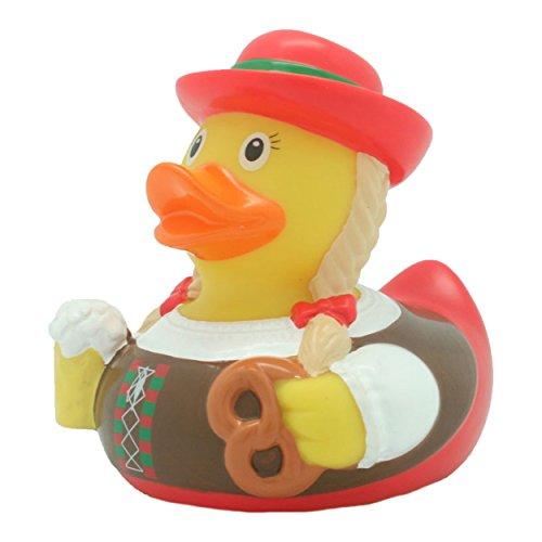Quietscheente Trachten Frau Ente, Gummiente, Quietscheentchen, Badeente, Quietsch Ente, Sammelfigur, Gummi Bade Spielzeug, LiLaLu, 2039