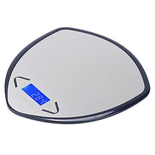 Mini báscula, LED portátil de 5Kg / 1g, báscula para hornear alimentos para el hogar, restaurante, cocina, cafetería(Navy blue, 5KG/1g)