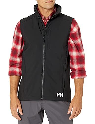 Helly Hansen Paramount Softshell, Resistente all'Acqua e Resistente al Vento e Traspirante Uomo, L, Nero (Black)