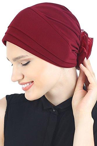 Deresina Headwear Deresina Headwear Gepolsterter und Gefalteter Kopfbedeckung (Burgund)