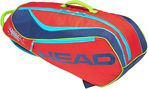 HEAD Novak Djokovic Junior Combi 6 Racquet Tennis Bag (Red/Navy)