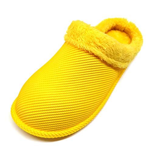 [Sophiscated] メンズ レディース トイレスリッパ室内 暖かい 滑り止め スリッパ冬 防水 履きやすい ルームシューズ カカト 履き外用 スリッパ室内履き 男女兼用 もこもこ 快適 軽量 静音 … (黄色い, measurement_22_po