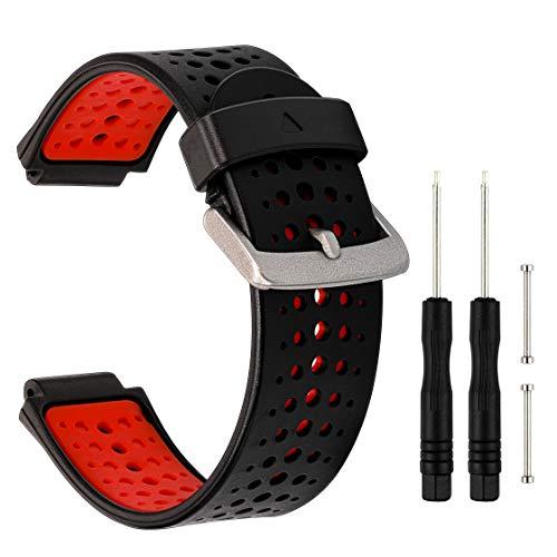 TRUMiRR Armband kompatibel mit Forerunner 235 Armband, Doppelte Farbe Silikon Gummi Armband Sport Uhrenarmband für Garmin Forerunner 235/220/230/620/630/735XT, Approach S20/S5/S6 Smartwatch