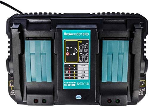 Cargador de doble puerto DC18RD para cargador Makita 18 V DC18RC DC18RA DC18SF Makita batería 18V BL1850B BL1860B BL1830B BL1440B BL1430B BL1415