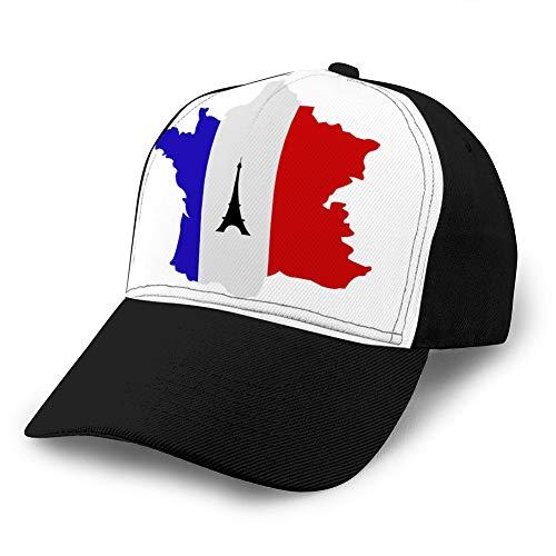 LJKHas232 796 Sombrero de Vaquero de béisbol Estructurado Ajustable para Adultos Mapa de Francia Sombrero Ajustado