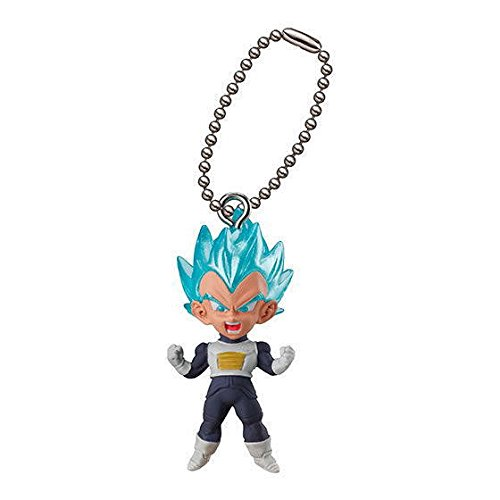 Dragon Ball Super Gashapon UDM The Best 25 SSGSS Vegeta with Keychain Capsule Toy