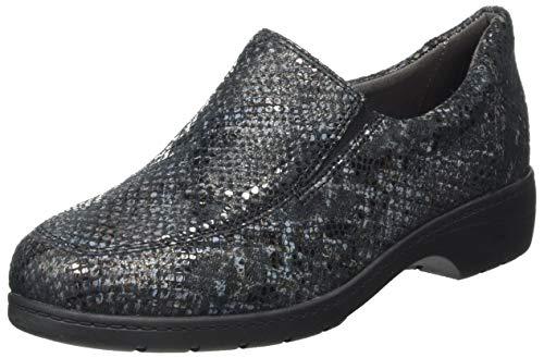 CAPRICE Damen 9-9-24350-25 Slipper, Black Reptile, 41 EU