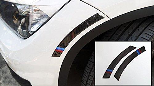 Eppar Black Carbon Fiber Protect Fender Trims M3 for BMW 4 Series F32 2013-2016 420i 428i 435i